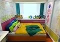 兒童房,榻榻米式床,衣柜,柜子