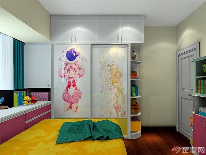 儿童房,儿童房床,衣柜,柜子