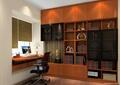 书房设计,书柜,书桌,椅子