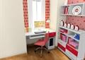 儿童房,桌椅,书柜,柜子