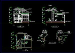 某欧式独栋别墅设计cad施工图