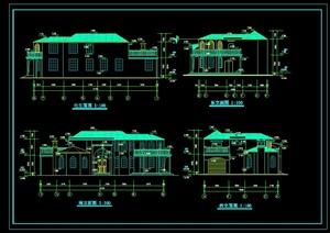 某欧式独栋别墅设计全套cad建筑施工图