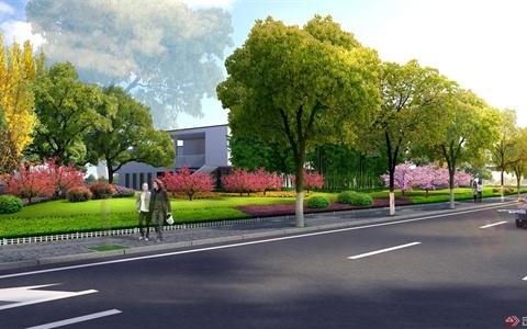 仙尧路北侧绿带景观规划设计