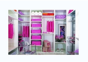 室内设计衣柜实景图效果图