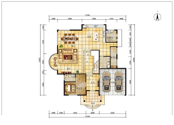 3款豪華版住宅戶型圖設計psd圖