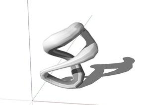 现代独特精致抽象小品设计SU(草图大师)模型
