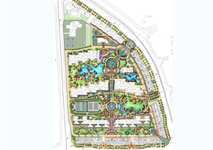 某小区住宅景观设计全套手绘方案图