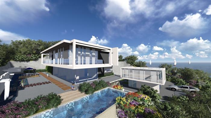 简约现代别墅建筑设计方案(SU亿博网络平台 JPG效果图)