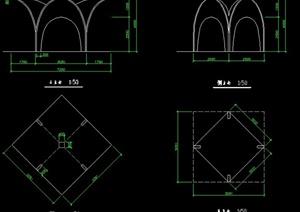 创意凉亭设计cad方案图