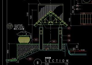 现代木亭子CAD方案图