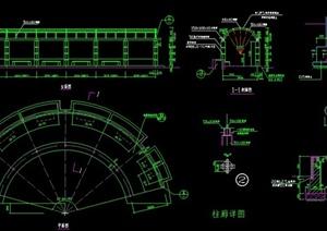 弧形柱廊设计cad施工图