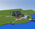 集装箱,集装箱式建筑,滨水建筑,园桥