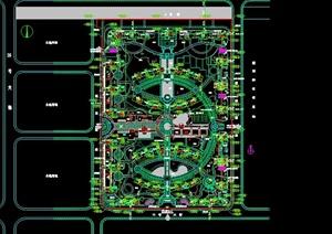 现代小区景观规划CAD总平面图
