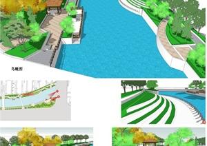 毕业设计——某河岸河道景观整治设计方案