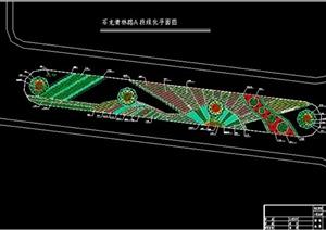 某镇道路绿化带规划设计图
