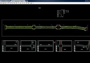 现代道路绿化设计cad平面图