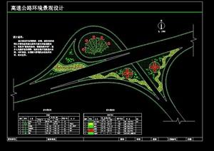 某高速公路环境景观设计cad方案图