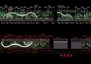某工业园区道路绿化设计cad方案图