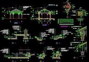 欧式凉亭设计施工图