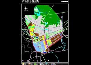 某产业园详细规划设计cad方案图
