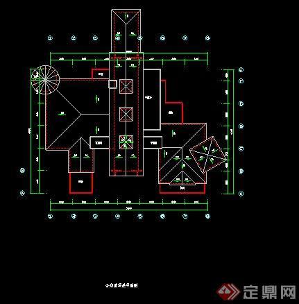 某二层会所建筑平面图(4)
