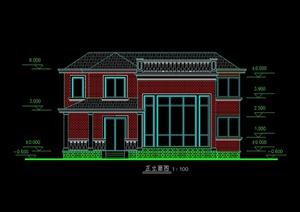 某北美风格别墅自建设计cad方案