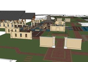 某东南亚小区建筑设计SU(草图大师)模型