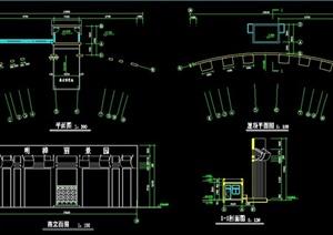 现代大门施工图