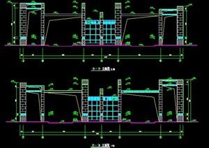 景观大门设计方案图