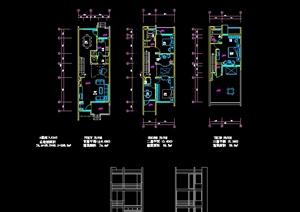 现代别墅住宅建筑设计cad方案
