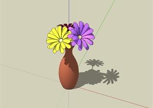 陶罐插花设计SU(草图大师)模型