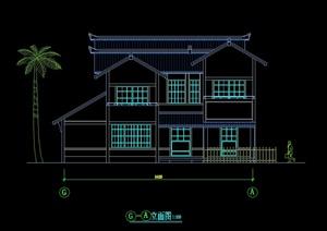 日式别墅设计cad平立剖