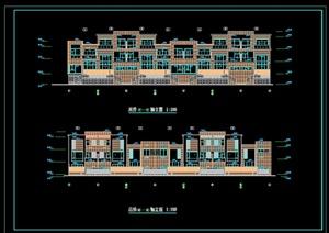 某现代风格别墅住宅楼设计cad平立剖