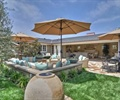 庭院,庭院景觀,遮陽傘,陶罐小品