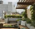 屋顶花园,庭院,庭院景观,廊架,防腐木铺地