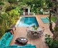 庭院,庭院景观,桌椅,泳池,沙发,沙发茶几