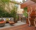 庭院,庭院景觀,庭院花園,枯枝樹,桌凳