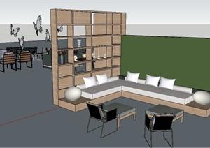 餐桌椅、沙发、凉亭SU(草图大师)模型