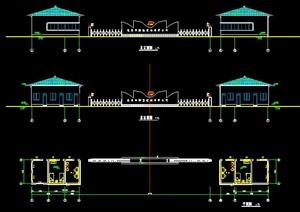 某建筑材料厂大门方案图