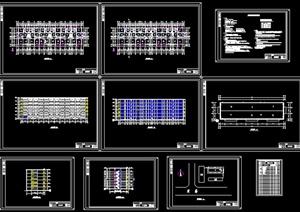 某六层框架结构住宅建筑设计cad方案(含建筑结构图及设计任务书计算书)