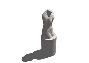 园林景观小品雕塑建筑SU(草图大师)模型