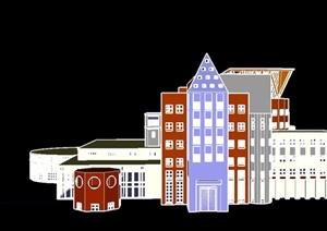 某欧式风格教学楼建筑SU(草图大师)模型设计