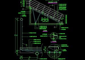 某現代風格樓梯欄桿詳細設計cad施工圖