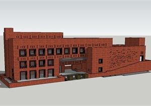 某新古典风格电影院建筑设计SU(草图大师)模型