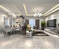 住宅空间,住宅空间装饰,餐桌椅,客厅,客厅沙发,吊灯