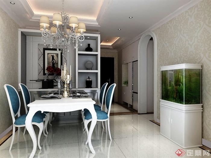 住宅空间,餐厅,餐厅装饰,餐桌椅,吊灯