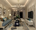 住宅空间,住宅空间装饰,吊灯,沙发茶几,电视,电视背景墙,电视柜
