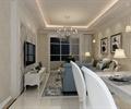 住宅空间,住宅空间装饰,客厅,吊灯,沙发,沙发茶几,电视柜
