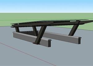 某现代风格小区车库入口设计SU(草图大师)模型
