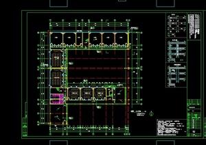 某现代风格学校教学楼建筑设计CAD施工图
